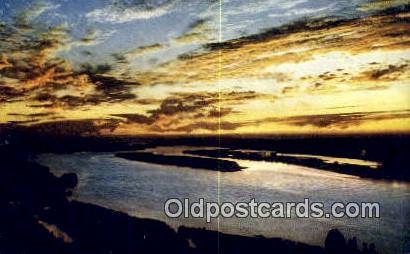 Sunset - Columbia River, Oregon OR Postcard