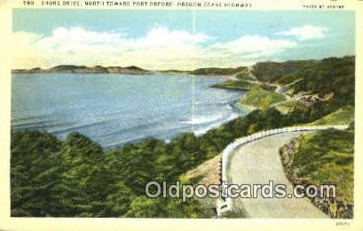 Shore Drive, Port Orford - Oregon Coast Highway Postcards, Oregon OR Postcard
