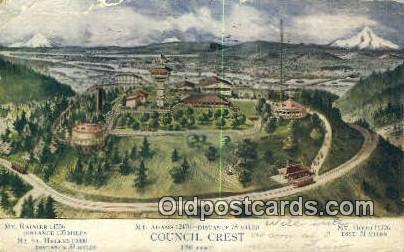 Council Crest - Mt Hood, Oregon OR Postcard