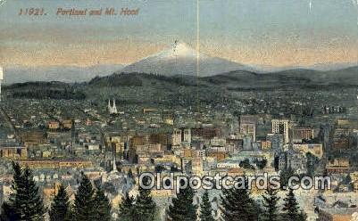 Portland - Mt Hood, Oregon OR Postcard