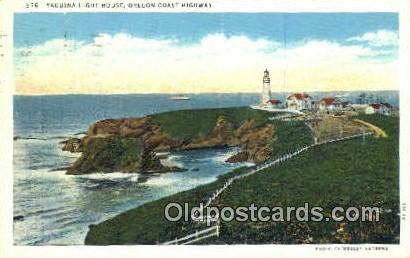 Yaquina Lighthouse - Oregon Coast Highway Postcards, Oregon OR Postcard