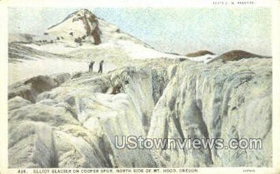 Elliot Glacier on Cooper Spur - Mt Hood, Oregon OR Postcard