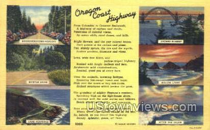 Oregon Coast Highway - Misc Postcard
