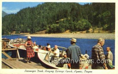 Singing Springs Ranch - Agness, Oregon OR Postcard