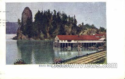 Rooster Rock - Columbia River, Oregon OR Postcard