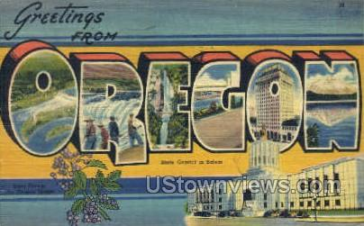 Misc, OR, Oregon Postcard