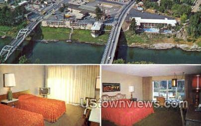 Riverside Motel - Grants Pass, Oregon OR Postcard