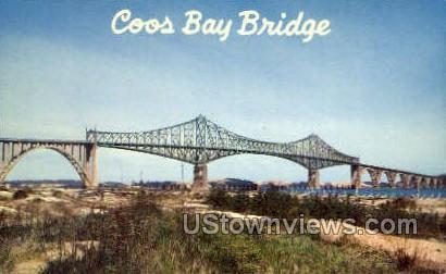 Coos Bay Bridge - Oregon OR Postcard