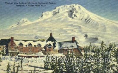 Timber Line Lodge - Mt Hood, Oregon OR Postcard