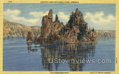 The Phantom Ship - Crater Lake, Oregon OR Postcard