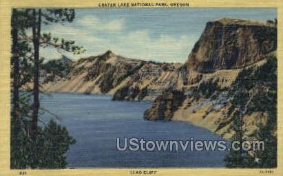 Llao Cliff - Crater Lake, Oregon OR Postcard