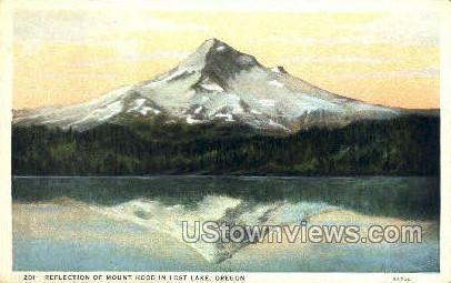 Mount Hood in Lost Lake - Mt Hood, Oregon OR Postcard