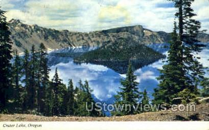 Cloud Reflections - Crater Lake, Oregon OR Postcard