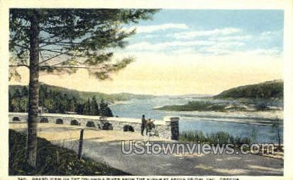 The Highway above Bridal Veil - Columbia River, Oregon OR Postcard