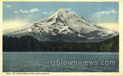 Mt Hood from Lost Lake - Oregon OR Postcard