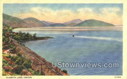 Klamath Lake, OR, Oregon Postcard