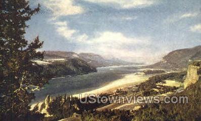 Columbia River Gorge - Oregon OR Postcard