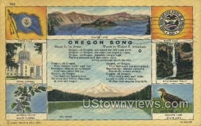 Oregon Song - Misc Postcard