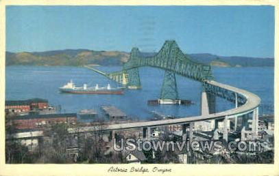 Astoria Bridge - Oregon OR Postcard