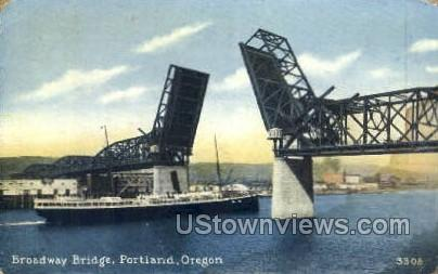 Broadway Bridge - Portland, Oregon OR Postcard