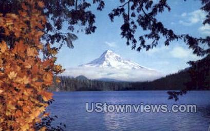 Mt Hood & Lost Lake - Oregon OR Postcard