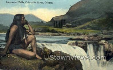 Tumwater Falls - Columbia River, Oregon OR Postcard