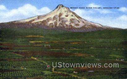Mt Hood River Valley - Oregon OR Postcard