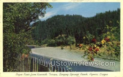Singing Spring Ranch - Agness, Oregon OR Postcard