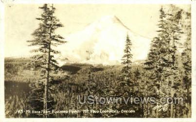 Real photo -Buzzard Point - Mt Hood, Oregon OR Postcard