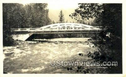 Real photo - McKenzie Bridge - Misc, Oregon OR Postcard