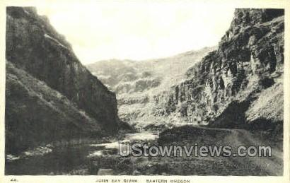 John Day River - Misc, Oregon OR Postcard