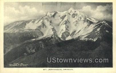 Mt Jefferson - Misc, Oregon OR Postcard