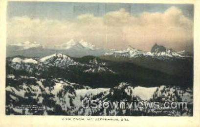 View from Mt Jefferson - Misc, Oregon OR Postcard