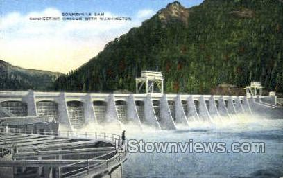 Bonneville Dam - Misc, Oregon OR Postcard