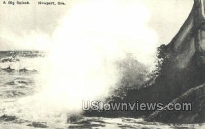 A Big Splash - Newport, Oregon OR Postcard