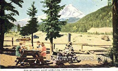 Camp Ground - Mt Hood, Oregon OR Postcard