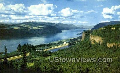 El Monte Dodge - Columbia River, Oregon OR Postcard