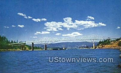 Bridge of the Gods - Columbia River, Oregon OR Postcard