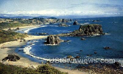Harris Beach State Park - Misc, Oregon OR Postcard