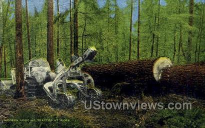Modern Logging - Misc, Oregon OR Postcard