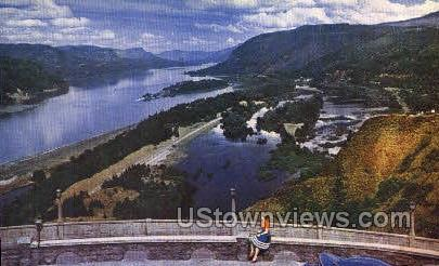 Crown Point - Columbia River, Oregon OR Postcard