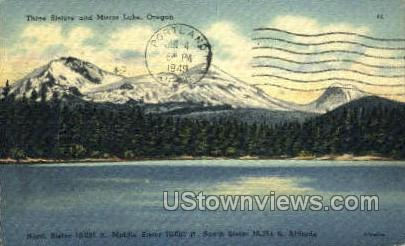 Three Sister & Mirror Lake - Misc, Oregon OR Postcard
