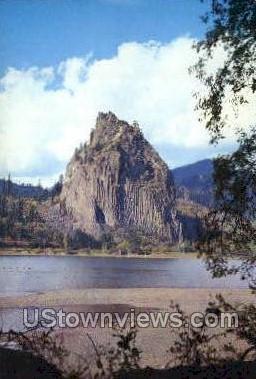 Beacon Rock - Columbia River, Oregon OR Postcard