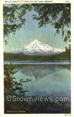 Reflection of Mt Hood - Oregon OR Postcard