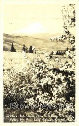 Real Photo - Mt Adams - Mt Hood, Oregon OR Postcard