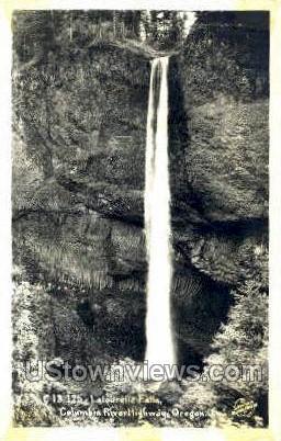 Real Photo - Latourelle Falls - Columbia River, Oregon OR Postcard