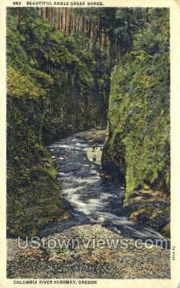 Eagle Creek - Columbia River, Oregon OR Postcard