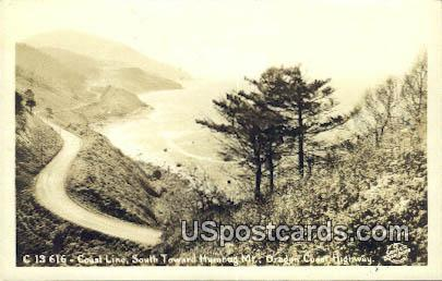Real Photo - Coast Line - Oregon Coast Highway Postcards, Oregon OR Postcard