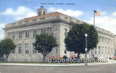 Post Office - Astoria, Oregon OR Postcard