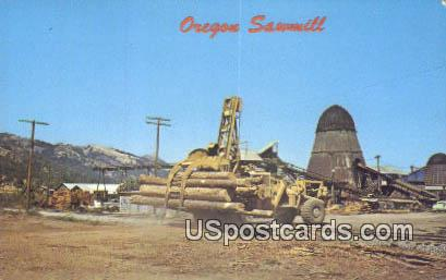 Sawmills - Misc, Oregon OR Postcard